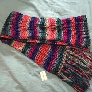 NWT Forever 21 Chunky, Long Striped Scarf